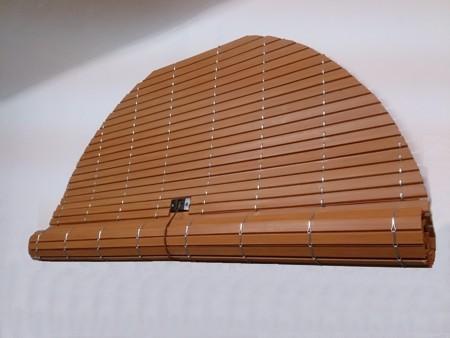 Persianas enrollables de madera cortina de madera - Persianas madera exterior ...